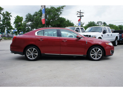 lincoln mks 2009 red sedan gasoline 6 cylinders front wheel drive automatic 77706