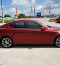 lexus is 250 2008 red sedan gasoline 6 cylinders rear wheel drive automatic 76087