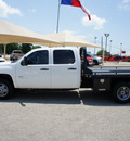 gmc sierra 3500hd 2010 white work truck diesel 8 cylinders 2 wheel drive 6 speed automatic 76087