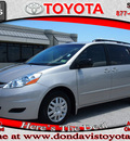 toyota sienna 2010 silver van ce 8 passenger gasoline 6 cylinders front wheel drive automatic 76011