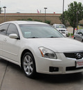 nissan maxima 2007 white sedan 3 5 se gasoline 6 cylinders front wheel drive shiftable automatic 77477