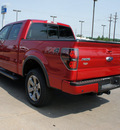 ford f 150 2012 red 4wd supercrew 145 fx4 flex fuel 8 cylinders 4 wheel drive 6 speed automatic 75070