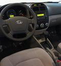 kia spectra 2009 black sedan lx gasoline 4 cylinders front wheel drive automatic 75062
