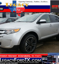 ford edge 2013 silver suv sel gasoline 6 cylinders front wheel drive shiftable automatic 77471