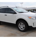ford edge 2012 white se gasoline 6 cylinders front wheel drive automatic 77074