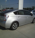 toyota prius 2012 silver hatchback three hybrid 4 cylinders front wheel drive automatic 75569