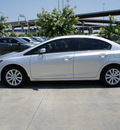 honda civic 2012 silver sedan ex gasoline 4 cylinders front wheel drive automatic 75034
