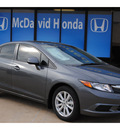 honda civic 2012 dk  gray sedan ex l gasoline 4 cylinders front wheel drive automatic 77034