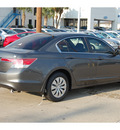 honda accord 2012 dk  gray sedan lx gasoline 4 cylinders front wheel drive automatic with overdrive 77034
