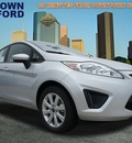 ford fiesta 2012 silver hatchback se gasoline 4 cylinders front wheel drive automatic 77521