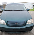 kia sedona 2003 dk  green van lx gasoline 6 cylinders dohc front wheel drive automatic with overdrive 77531