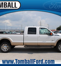 ford f 350 super duty 2012 white platinum tri king ranch biodiesel 8 cylinders 4 wheel drive automatic 77375