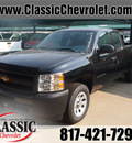 chevrolet silverado 1500 2012 black pickup truck work truck gasoline 6 cylinders 2 wheel drive automatic 76051
