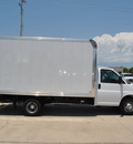 chevrolet express cutaway 2012 white van 3500 flex fuel 8 cylinders rear wheel drive automatic 76051