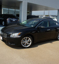 nissan maxima 2012 black sedan 3 5 sv gasoline 6 cylinders front wheel drive automatic 76116