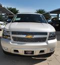 chevrolet tahoe 2013 pearl white suv ltz flex fuel v8 2 wheel drive automatic 76051