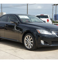 lexus is 250 2009 black sedan gasoline 6 cylinders all whee drive automatic 78232
