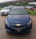 chevrolet cruze 2012 blue sedan lt gasoline 4 cylinders front wheel drive not specified 76051