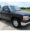 chevrolet silverado 1500 2002 black pickup truck gasoline 6 cylinders rear wheel drive automatic with overdrive 77539