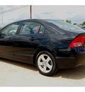 honda civic 2008 black sedan ex gasoline 4 cylinders front wheel drive 5 speed manual 77034