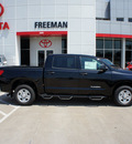 toyota tundra 2012 black gasoline 8 cylinders 2 wheel drive 6 speed automatic 76053