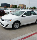 toyota camry 2012 white sedan le gasoline 4 cylinders front wheel drive 6 speed automatic 76053
