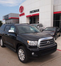 toyota sequoia 2012 black suv platinum flex fuel 8 cylinders 4 wheel drive 6 speed automatic 76053