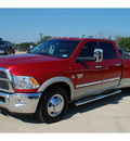 dodge ram pickup 3500 2010 dk  red laramie diesel 6 cylinders 2 wheel drive automatic with overdrive 77864
