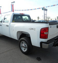 chevrolet silverado 2500 2011 white work truck gasoline 8 cylinders 4 wheel drive automatic 79925