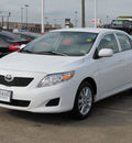 toyota corolla 2010 white sedan le gasoline 4 cylinders front wheel drive automatic with overdrive 77074