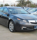 acura tl 2012 dk  gray sedan sh awd w advance gasoline 6 cylinders all whee drive automatic with overdrive 77074