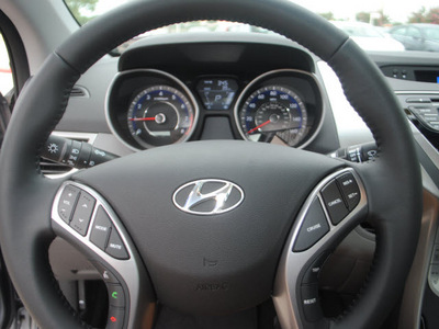hyundai elantra 2013 gray sedan 4dr sdn ltd at gasoline 4 cylinders front wheel drive automatic 75070