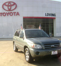 toyota highlander 2004 lt  green suv gasoline 6 cylinders front wheel drive automatic 75901