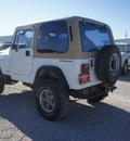 jeep wrangler 1991 white gasoline 6 cylinders 4 wheel drive 5 speed manual 76234
