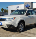 subaru forester 2010 white suv 2 5x gasoline 4 cylinders all whee drive automatic with overdrive 77627