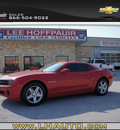 chevrolet camaro 2011 red coupe lt gasoline 6 cylinders rear wheel drive automatic 78654