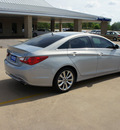 hyundai sonata 2012 lt  blue sedan gasoline 4 cylinders front wheel drive 6 speed automatic 76049