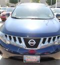 nissan murano 2009 dk  blue suv s gasoline 6 cylinders front wheel drive automatic 75034