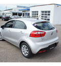 kia rio5 2013 bright silver hatchback lx gasoline 4 cylinders front wheel drive automatic 78550