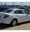 honda civic 2012 white sedan hybrid hybrid 4 cylinders front wheel drive automatic with overdrive 77034