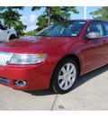 lincoln mkz 2009 red sedan gasoline 6 cylinders front wheel drive automatic with overdrive 77539