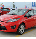 ford fiesta 2012 red hatchback ses gasoline 4 cylinders front wheel drive not specified 77375