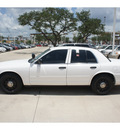 ford crown victoria 2008 white sedan police interceptor gasoline 8 cylinders rear wheel drive automatic with overdrive 78232