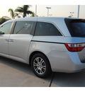 honda odyssey 2012 silver van ex l w navi gasoline 6 cylinders front wheel drive 5 speed automatic 77065
