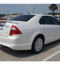 ford fusion hybrid 2010 white sedan hybrid 4 cylinders front wheel drive cont  variable trans  77373