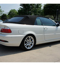 bmw 3 series 2004 white 325ci gasoline 6 cylinders rear wheel drive automatic 78729
