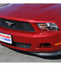 ford mustang 2011 red coupe v6 premium gasoline 6 cylinders rear wheel drive automatic 78216