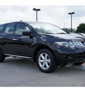 nissan murano 2009 black suv s gasoline 6 cylinders front wheel drive automatic 77706