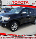 toyota sequoia 2011 black suv limited gasoline 8 cylinders 2 wheel drive automatic 76011