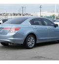 honda accord 2012 lt  blue sedan ex v6 gasoline 6 cylinders front wheel drive automatic 77025